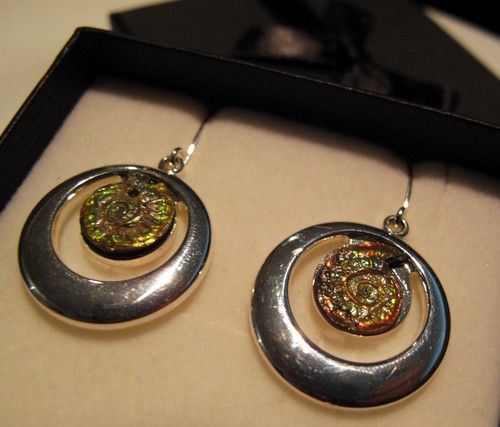 Silver plated Caloceras  Earrings 01