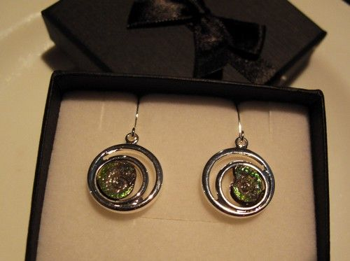 Silver plated Caloceras  Earrings 03