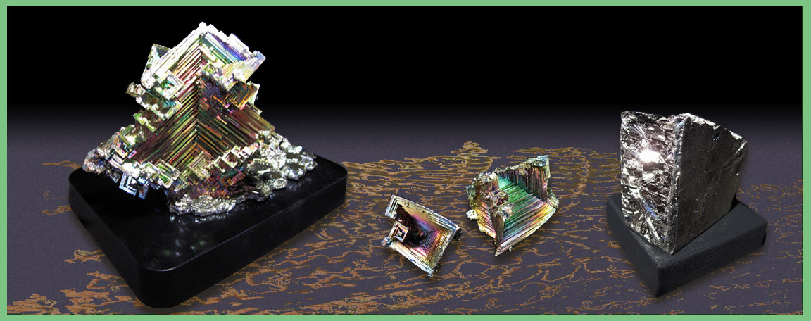 Bismuth Crystals and Ingots